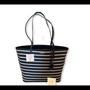 KATE SPADE NEW YORK WOMEN'S JANIE STRIPED LEATHER TOTE